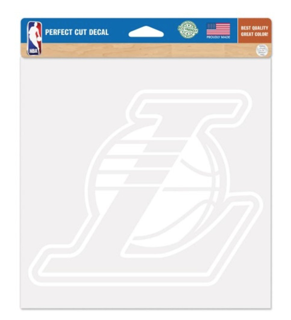 WinCraft NBA Los Angeles LA Lakers 8 x 8 inch White Decal by WinCraft