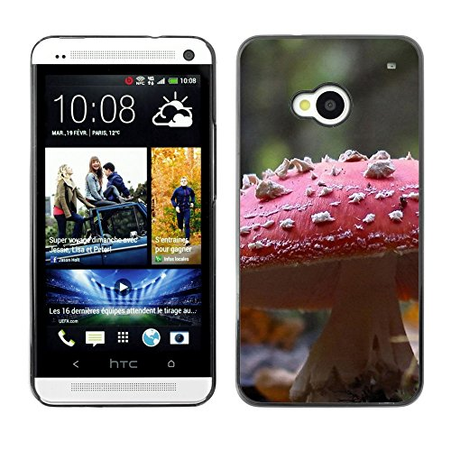 Soft Silicone Rubber Case Hard Cover Protective Accessory Compatible with HTC ONE M7 2013 - Plant Nature Forrest Flower 107