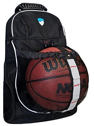 Hard Work Sports Basketball Backpack - Soccer Backpack With Ball Compartment Never Lose (Hard Basketball)