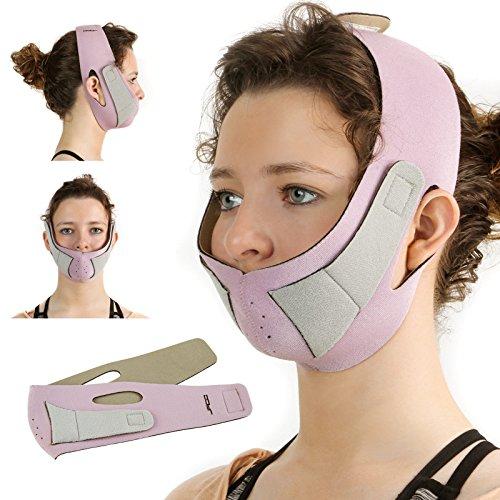 Jago Gesichtsformer aus 3 Schichten unterstützend für das Hautgewebe und der Wangen Maske Anti Falten, Damen Gesichtformer Gürtel, Pflege Bänder