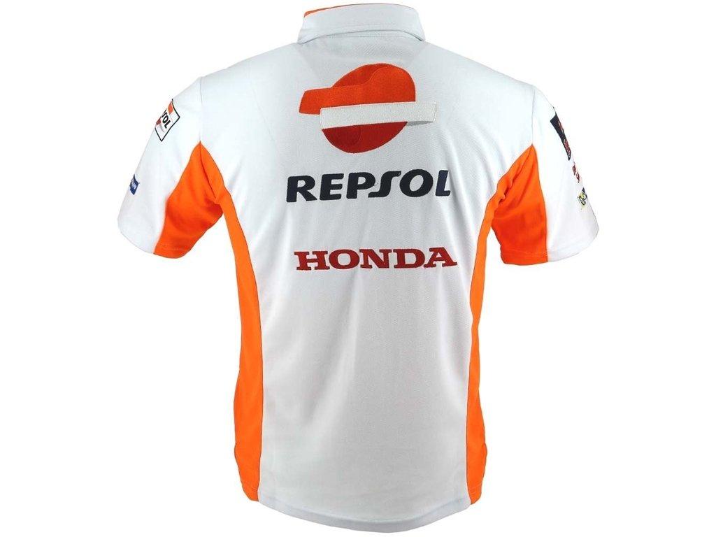 Polo Repsol Honda Team 2018 Equipo Blanco S: Amazon.es: Coche y moto