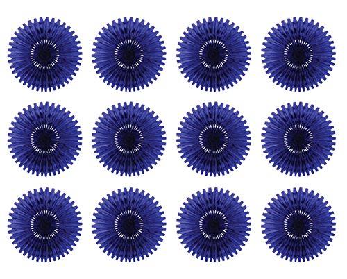 Beistle 55293-B 12-Piece Tissue Fans, 25-Inch ()