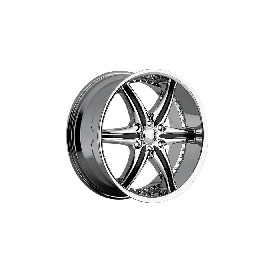 Cattivo 724 20x9 Chrome Wheel / Rim 6x5.5 with a 10mm Offset and a 110.00 Hub Bore. Partnumber 724290655+10C