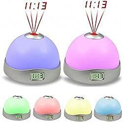 VIASA 7 Colors LED Change Star Magic Projector Backlight Clock