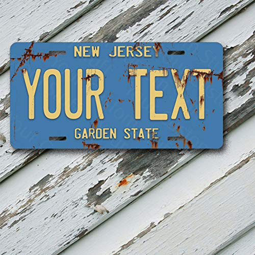 (License Plate New Jersey Wave 3 Antique Classic Customizable 6