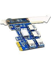 Rekuopl PCI-E naar PCI-E Riser Card 1 tot 4 1X tot 16X USB 3.0 Sleuf Hub voor Bitcoin Mining Miner BTC GerrTe