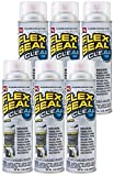 Flex Seal Spray Rubber Sealant Coating, 14-oz, Brite (6 Pack)