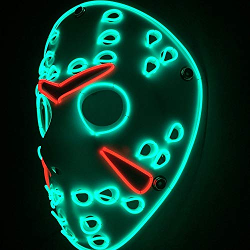 TECHLINK Light up Purge Mask LED Cold Light Mask Horror Party Mask Glowing Masks Scary Masquerade Party Cosplay Creative Style Creepy Killer Costume -