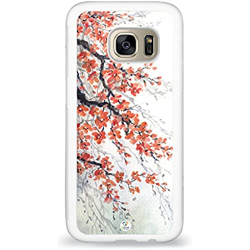 Galaxy S7 Case iZERCASE [Cherry Blossom Japanese] [Perfect Fit ] for Samsung Galaxy S7 (WHITE) Sales