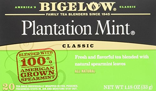 Bigelow Plantation Mint Black Tea Bags, 20-Count Boxes (Pack of 6), Mint Flavored Black Tea