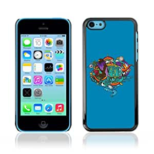 YOYOSHOP [Cool Abstract Tattoo Graphiti] Custodia Case Cover per Apple iPhone 5C