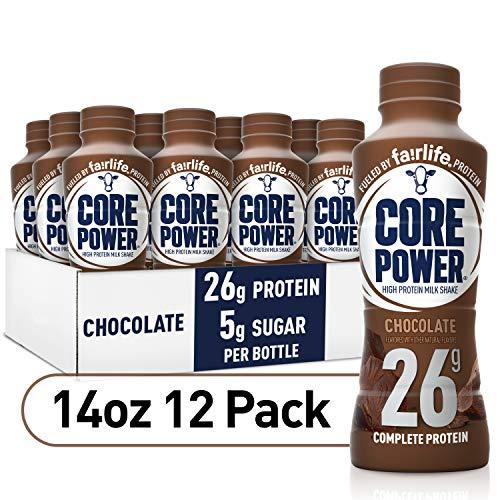 Core Power High Protein Milk Shake, Chocolate, 14 fl oz (Pack of 12)