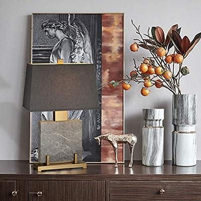Art Lámpara de mesa moderna de metal de mármol simple Lámparas de ...