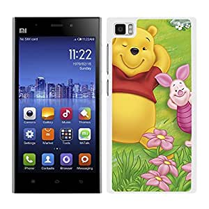 FUNDA CARCASA PARA Xiaomi Mi3 DISEÑO WINNIE THE POOH BORDE BLANCO
