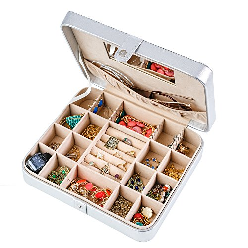Hives and Honey Jewelry Travel Case, Metallic Silver