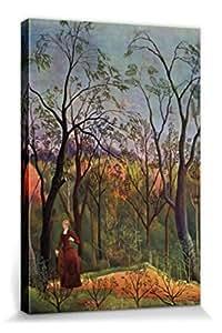 Henri Rousseau - El Paseo Por El Bosque, 1886 Cuadro, Lienzo Montado Sobre Bastidor (120 x 80cm)