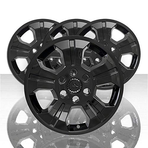 "Auto Reflections Set of 4 18"" 5 Spoke Wheel Skins for 2014-2018 Chevy Silverado 1500 - Black"