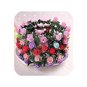 meiguiyuan Female Hair Headdress Wedding Decor Girl Princess Head Hoop Children Head Ring Artificial Flower Wreath Headdress Girls Headband 25