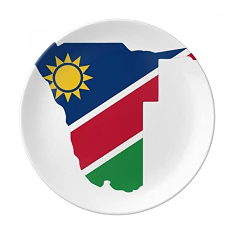 Amazon.com | The Republic of Namibia Africa Map Dessert Plate ...
