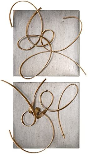 Uttermost 7071 Harmony Metal Wall Art Set of 2 , Gold