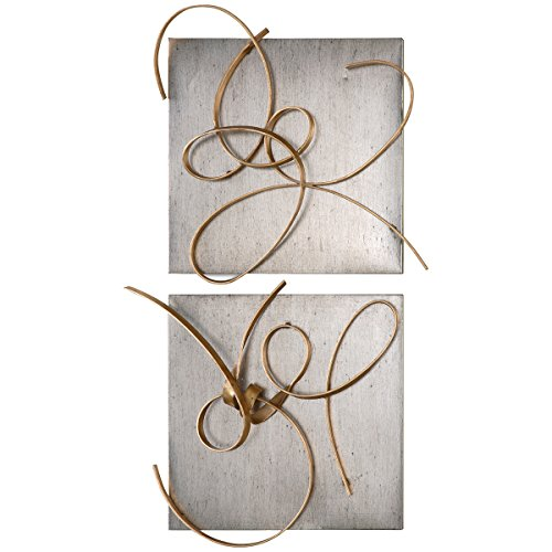 Uttermost 7071 Harmony Metal Wall Art (Set of 2), Gold