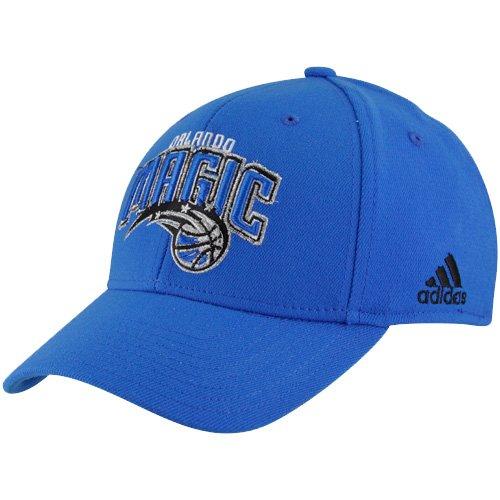 760a6784b21 NBA adidas Orlando Magic Royal Blue Basic Logo Structured Flex Hat (One  Size)
