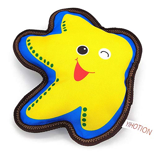AXEN Flying Dog Toy, Stuffingless Squeaky, Flying Starfish