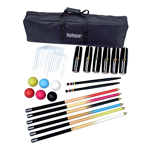 Hathaway Deluxe 6-Player Croquet Set Multi by Hathaway
