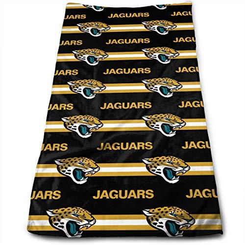 Sorcerer Custom Colorful Towel Jacksonville Jaguars American Football Team 100% Polyester Microfiber Quick Dry Bathroom Travel Bath Towel 12 X 27.5 Inches