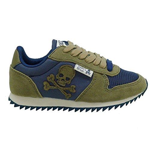 Zapatillas de niño Scalpers Skull Insignia 10127 Kaki: Amazon.es: Zapatos y complementos