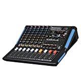 Audio 2000s AMX7333UBT 8-Channel Audio Mixer Sound Board with USB...