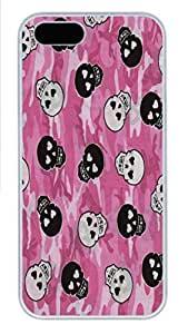 IPhone 5/5S Case Pink Chevron Background With Navy Anchor HAC1014389 PC Hard Plastic Case for iPhone 5/5S Whtie