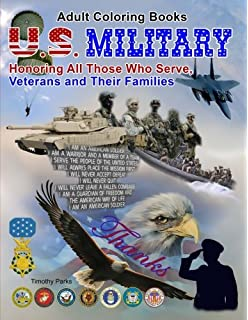 Amazon.com: U.S. Military: Adult Coloring Book of Military ...