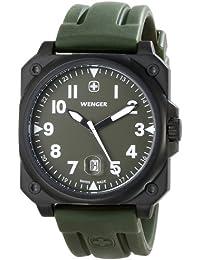 Men's 72422 AeroGraph Cockpit NATO Green Rubber Strap Watch