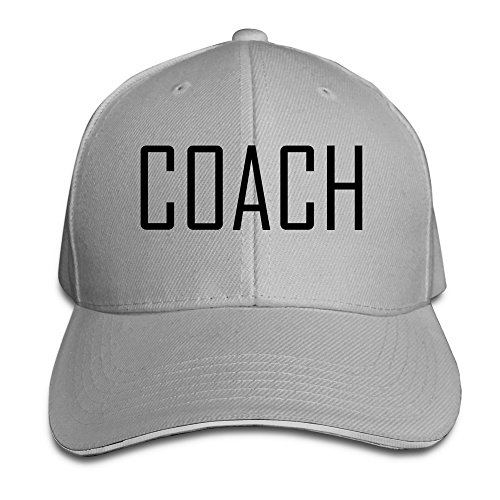 Coach Unisex 100% Cotton Adjustable Baseball Caps Ash One Size
