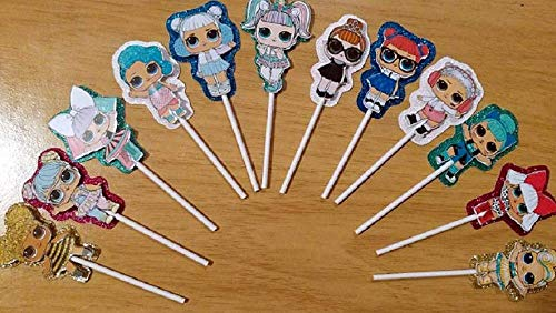 (12 L.O.L Surprise Cupcake Toppers! Handmade- LOL Party Supplies)