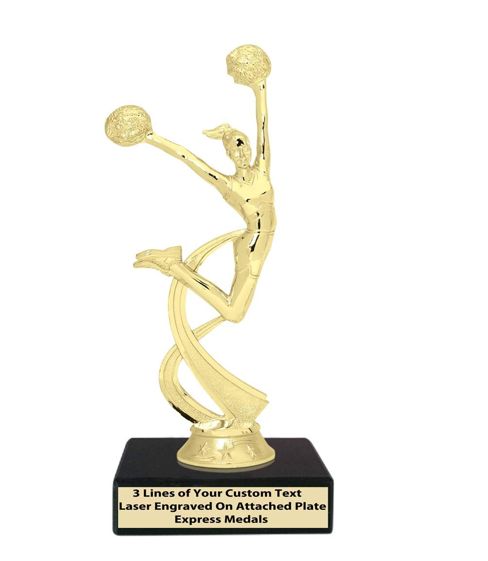 Express Medals (1 – 50個パック 2位 3位 勝者 チャンピオン チアリーディング チアリーディング トロフィー 本物のブラック大理石ベース 刻印プレート20 B07KX2S8WY  1