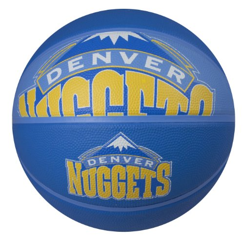 fan products of Spalding NBA Denver Nuggets Courtside Rubber Basketball