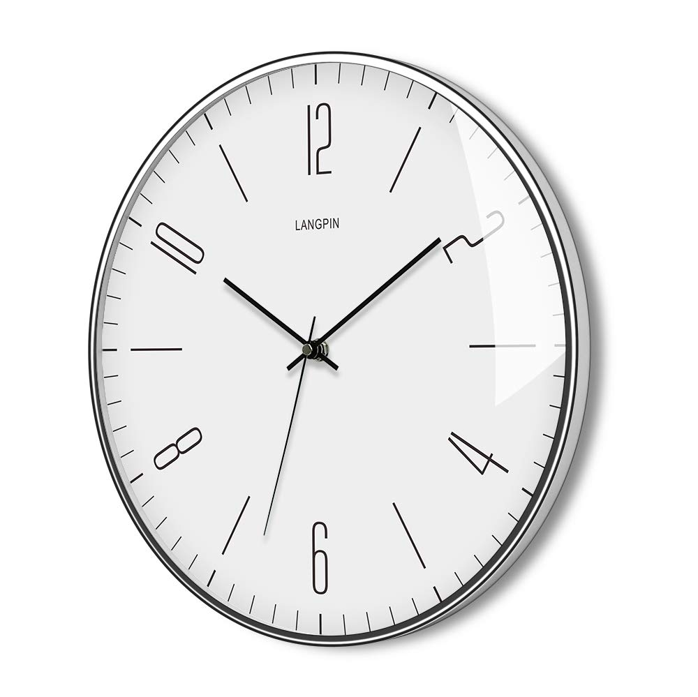 . Details about LANGPIN Silent   Non Ticking Modern Wall Clock 14   Battery  Operated Digital