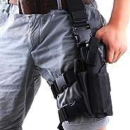 Gexgune Tornado Tactical Thigh Holster Drop Left Leg Holster Adjustable Pistol Handgun Gun Pouch Wargame Airso