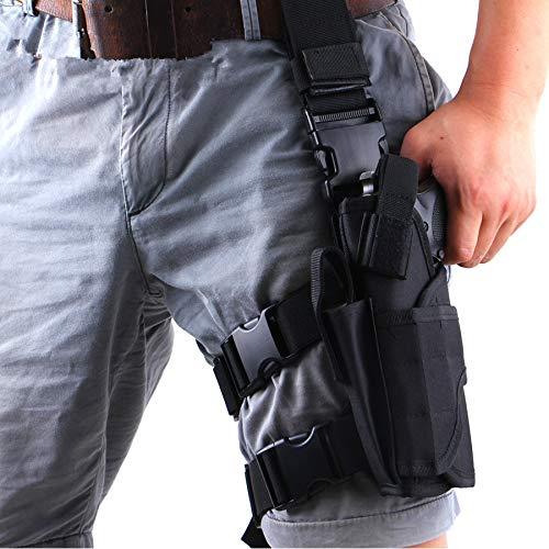 (Gexgune Tornado Tactical Thigh Holster Drop Left Leg Holster Adjustable Pistol Handgun Gun Pouch Wargame Airsoft Nylon Holster Pouch)