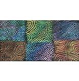 Artist's Paintstiks Rubbing Plates (Curves) - Package of 6