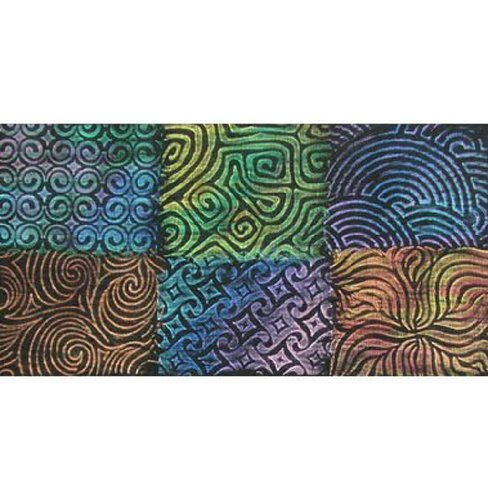 Artist's Paintstiks Rubbing Plates (Curves) - Package of 6 by Cedar Canyon Textiles