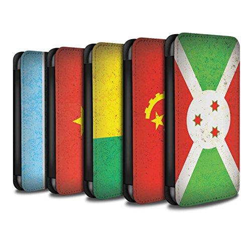 Stuff4 Coque/Etui/Housse Cuir PU Case/Cover pour Apple iPhone 6S / Pack 21pcs Design / Drapeau Africain Collection