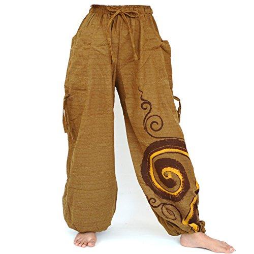 Siamrose Harem Pants Men Women, Aladdin Pants, Baggy Pants, Bohemian Pants, Drop Crotch Pants, Adjustable Length, One Size (Light ()