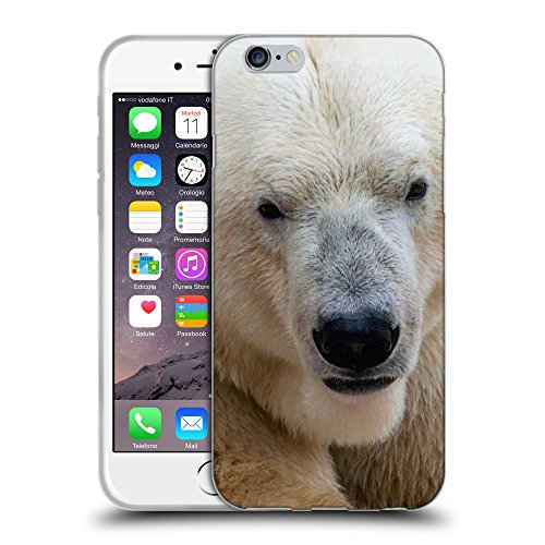 Just Phone Cases Coque de Protection TPU Silicone Case pour // V00004110 Polar ours blanc marche // Apple iPhone 6 4.7""