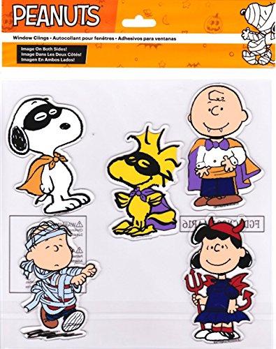 Peanuts Halloween Window Gel Clings Charlie Brown, Snoopy, Woodstock, Linus, Lucy for $<!--$13.98-->