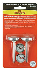 Mr. Bar-B-Q  40146X Stainless Steel Meat Grilling Thermometers, 2 Pack