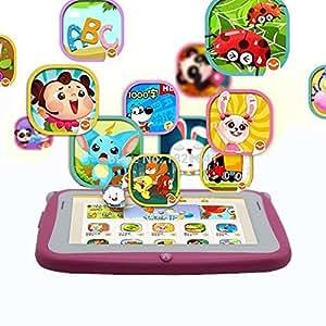 ARBUYSHOP 4,3 pulgadas KIDS Android Tablets PC WIFI doble regalo pc pestaña cámara para el bebé y los niños pc pestaña 512MB 4GB KIDS pestaña tablet android para el cabrito, Amarillo