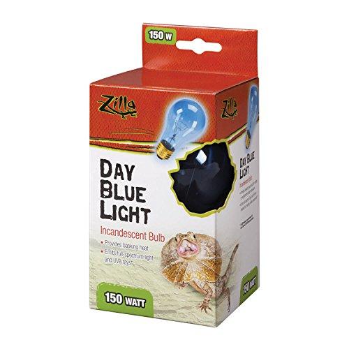 (Zilla Reptile Terrarium Heat Lamps Incandescent Bulb, Day Blue, 150W)